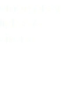 emergency lights & sirens